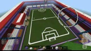 TUTORIAL MINECRAFT - membuat lapangan sepak bola #1