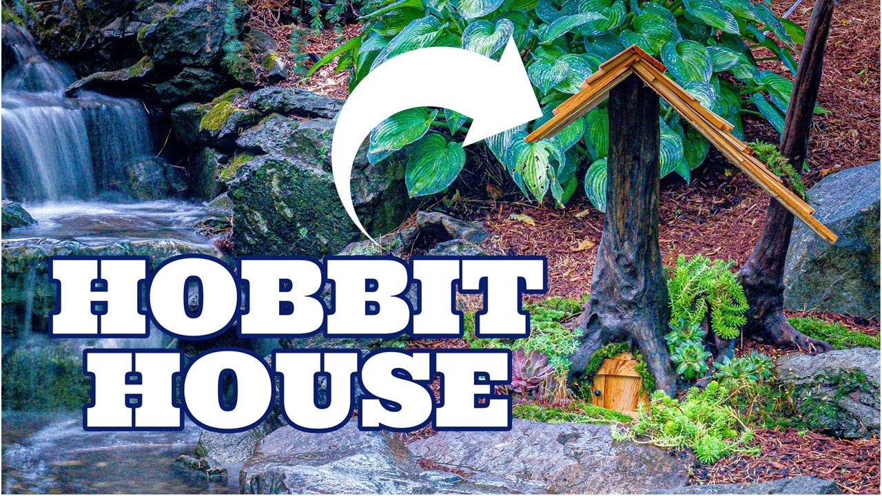 HOBBIT HOUSE Waterfall step by step | Fairy Garden with Water Feature