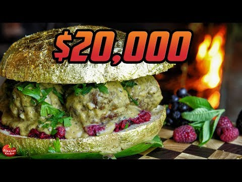 PEWDIEPIE'S GOLDEN BURGER! - $20,000 REAL 24K GOLD!