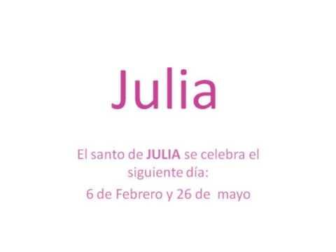Origen y significado del nombre Julia