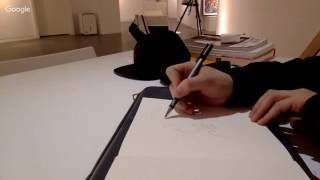 drawing on paper at FIFTY FIFTY gallery