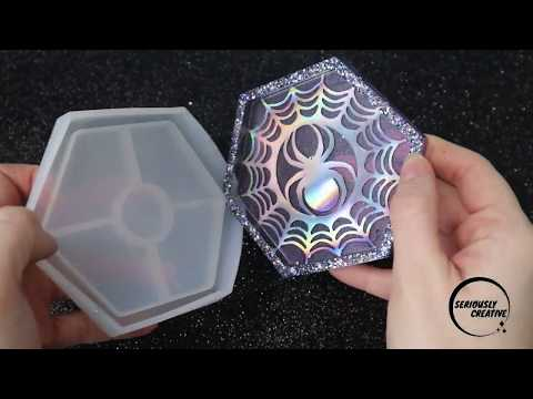Watch Me Resin #23 Trinket Tray | Seriously Creative | Spooky Halloween Resin Craft Spider Web