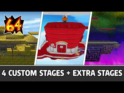 4 Custom Stages & Playable Extra Stages - Super Smash Bros 64 Mods