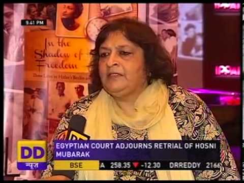 "Interview of Laxmi  Dhaul on DD news on her book "" In the shadow of freedom"""