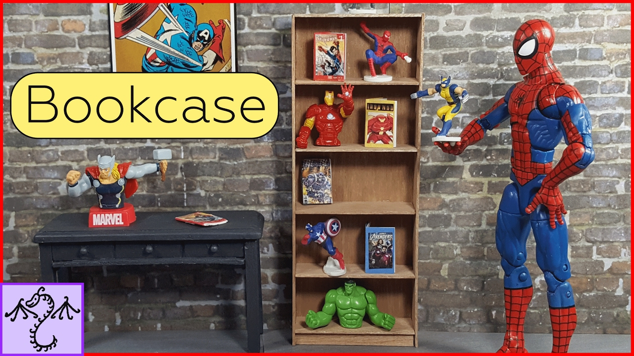 How to Make a Mini Bookcase (1/12 Scale), DIY for Dioramas or Dollhouses