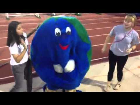 International School Of The Americas Mascot Globie Youtube