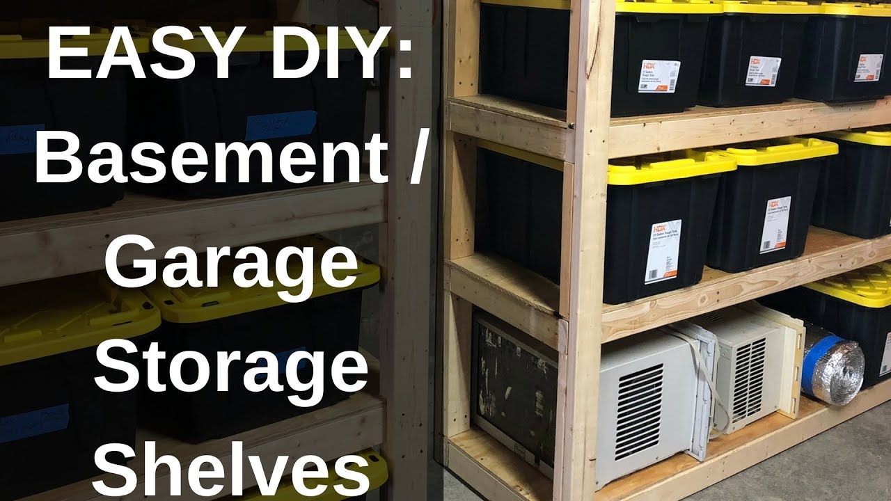Diy How To Build Strong Storage Shelves For Basement Or Garage