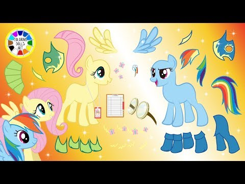 Play Dress Up MLP With Rainbow Dash And Fluttershy For Wonderbolts Cartoons