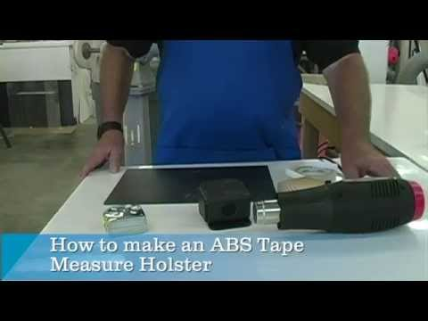How To Make An Abs Tape Measure Holster Youtube