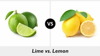Differences Between Lemon And Lime.