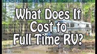 What Does it Cost to Full Time RV?