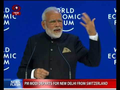 Climate Change, Terrorism & Protectionism gravest threats: PM Modi at WEF, Davos