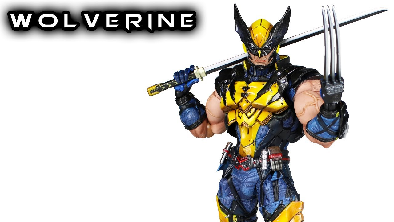 Play Arts Kai Wolverine Marvel Variant Action Figure Toy Review