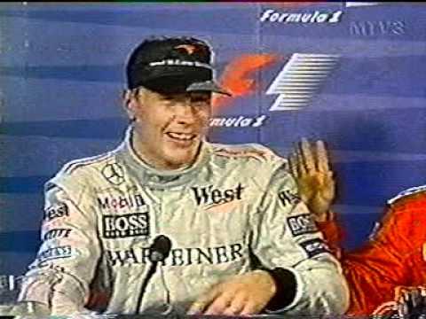 Formulahuumoria - F1 lehdistötilaisuus Häkkinen v Irvine