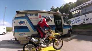 GoPro HERO3: Tobias Maach on Ørnedalsbanen on his Suzuki