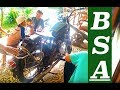 Classic! 1960 Bsa Motorcycle Sound (idle, Rev Up)