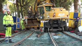 Travaux tram 9 Jette Miroir 2/10/2017
