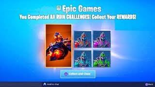 Le RUIN SKIN CHALLENGES REWARDS à Fortnite! (Ruin Skin COLOR VARIANTS Rewards in Fortnite)
