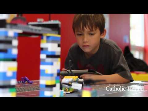 Robotics summer camp at St. Luke School in McLean