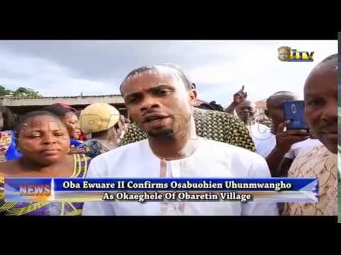 Oba Of Benin Confirms Osabuohien Uhunmwangho As Okaeghele Of Obaretin Village