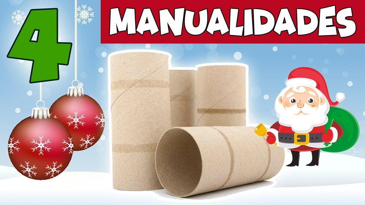 4 manualidades para navidad con reciclaje adornos f ciles for Adornos faciles para navidad