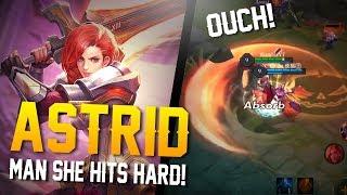 Video Arena of Valor Gameplay - MAN SHE HITS HARD!! Astrid Gameplay download MP3, 3GP, MP4, WEBM, AVI, FLV April 2018