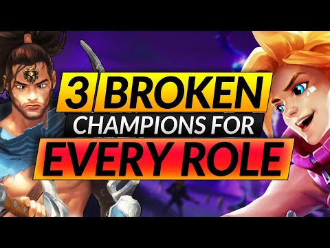 Top 3 BEST Champions to ONE-TRICK - MAIN These Picks to HARD CARRY with ANY ROLE - LoL Guide