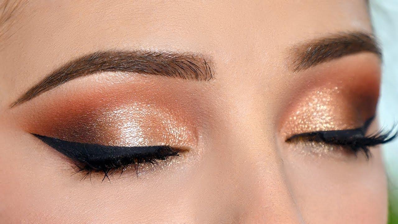 WARM TONED Smokey Eye Makeup Tutorial - Full GLAM