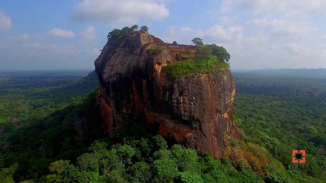 sigiriya rock fortress sri lanka youtube. Black Bedroom Furniture Sets. Home Design Ideas