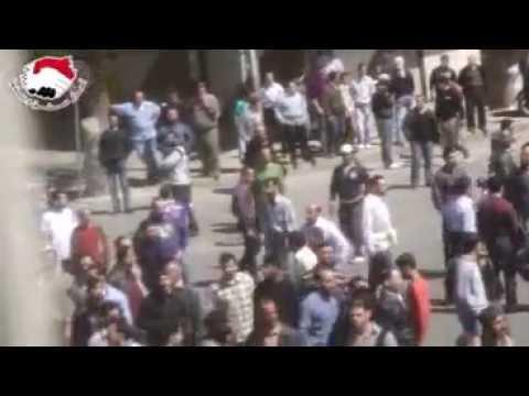 دمشق جوبر الجمعة العظيمة مقطع يعرض لاول مرة 22-4-2011