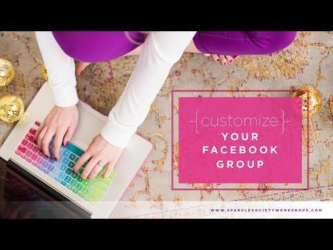 Customize Facebook Group Settings