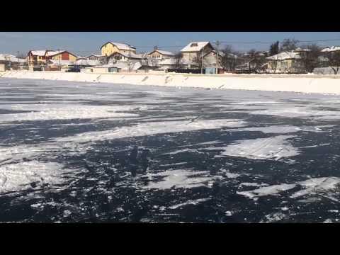 Feerie pe gheata lacului Cernica. 1 si 2 ianuarie 2015.