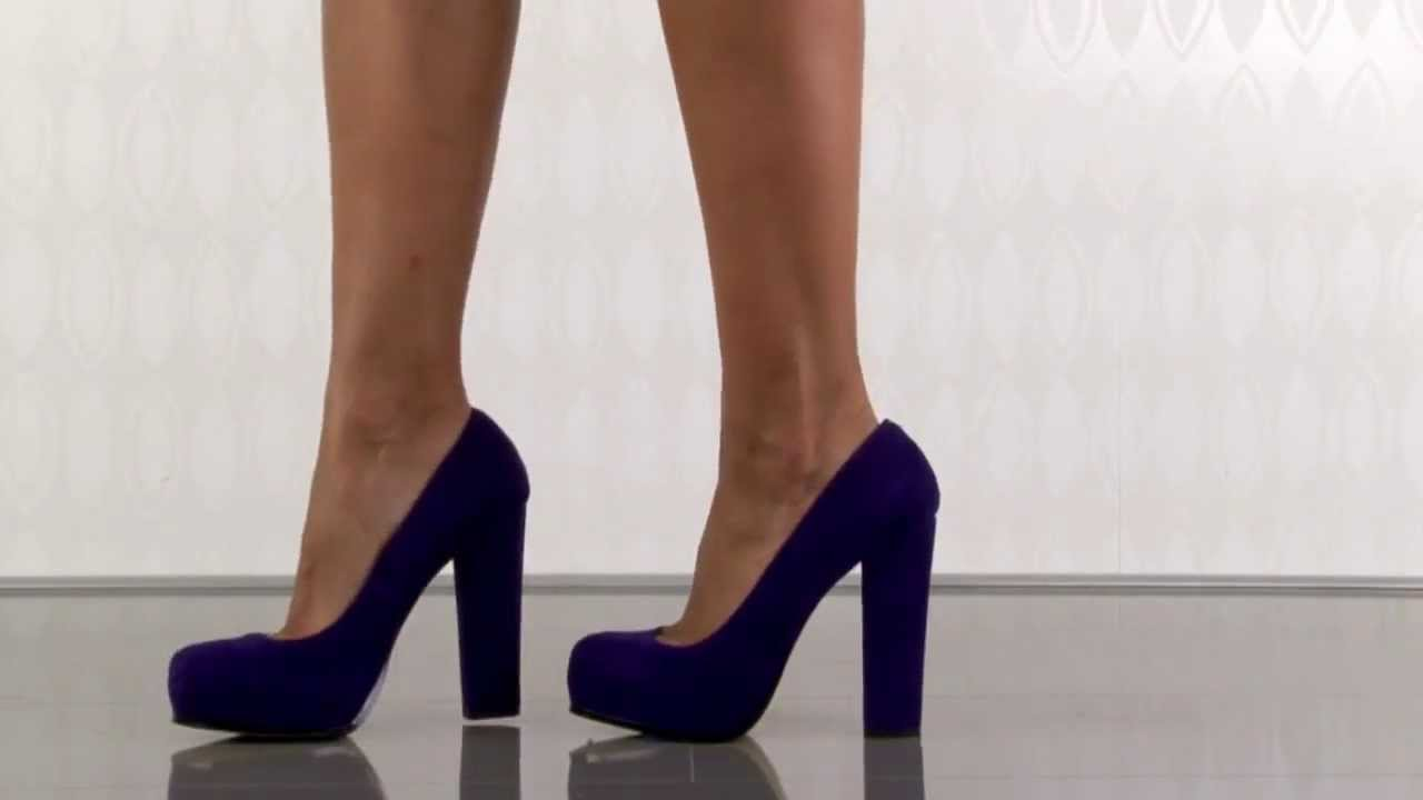 77cfc0193ed0 Steve Madden Sarrina in Purple Suede - YouTube