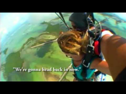 Kristen Hall Skydives in  the Florida Keys