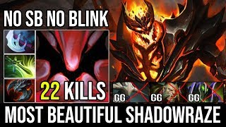 Most Beautiful Shadowraze NO Blink NO Shadow Blade - SF Epic 1 Vs 5 Tanky Build Delete All Dota 2