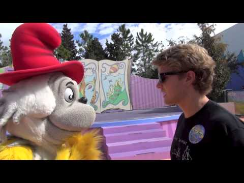 Green Eggs and Ham Sam-I-am at Dr Seuss Land at Universal Studios Orlando
