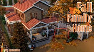 🍂Осенний семейный дом│Строительство│Fall Family Home│SpeedBuild [The Sims 4]