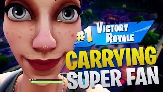 Sypher Carries Super Fan To Victory (Fortnite Battle Royale)
