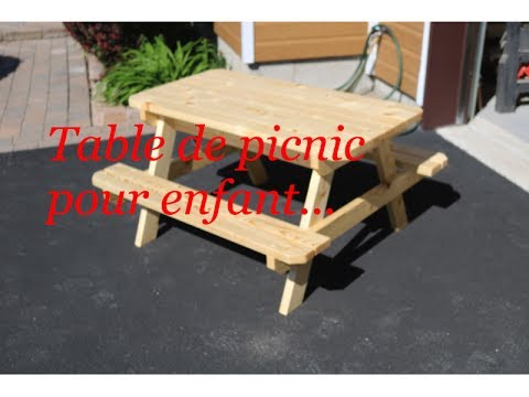 table de picnic pour enfants youtube. Black Bedroom Furniture Sets. Home Design Ideas