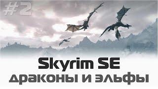 Skyrim Special Edition Драконы, эльфы и Дельфина Часть 2