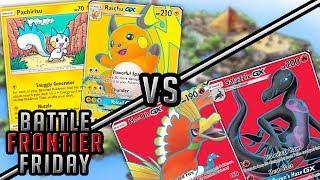 Raichu/Pachirisu vs Ho-Oh/Salazzle Pokemon TCG Matchup | Battle Frontier Friday #45