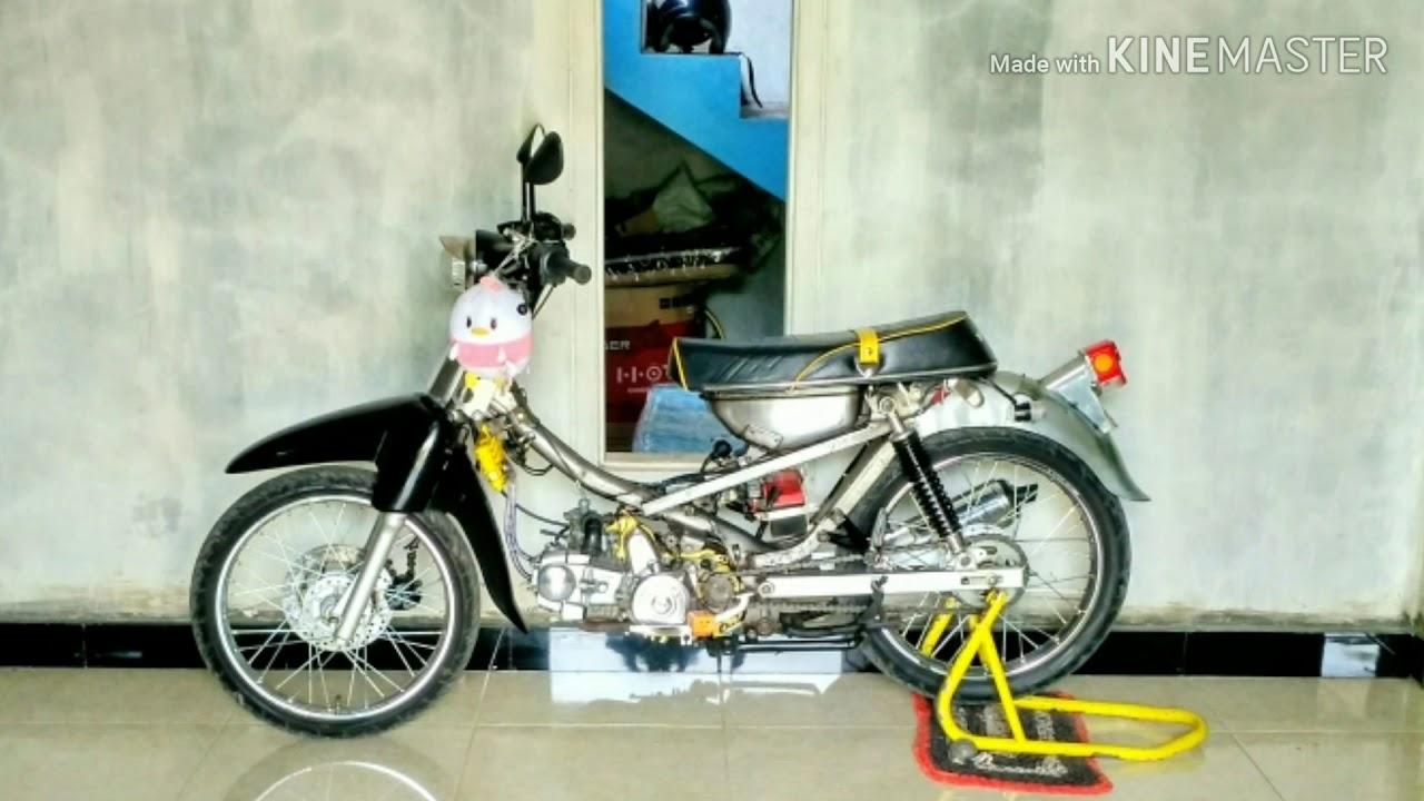 Modifikasi Motor Kuno Honda C70 Mesin Honda Supra 125 Motor Minti Klasik By Sadewa Utama