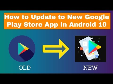 How To Update To New Google Play Store App In  Android 10