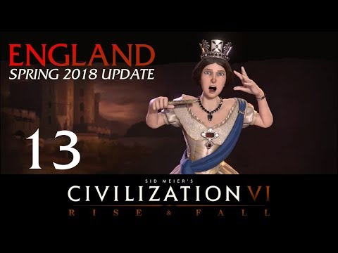 Civilization 6 | Deity England Let's Play | Spring 2018 Upda