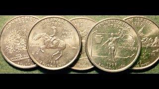State Quarter Collection: 1999 - Delaware, Pennsylvania, New Jersey, Georgia, Connecticut