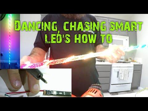 How to make a lighted led whip
