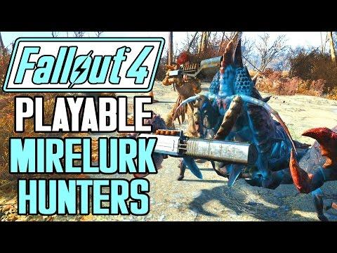 Fallout 4 - Playable Mirelurk Hunters Mod Showcase! - Nukalurk Hunter, Albino Hunter, And More!