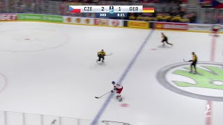 Kubalik goes top shelf and makes it 3-1 for the Czech Republic over...
