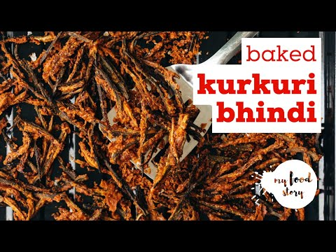 Oven Baked Kurkuri Bhindi Better than fried!