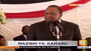 President Kenyatta's speech at musician Joseph Kamaru's funeral